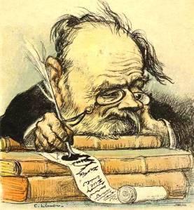 Caricature de Zola par Léandre ca 1900-Public Domain
