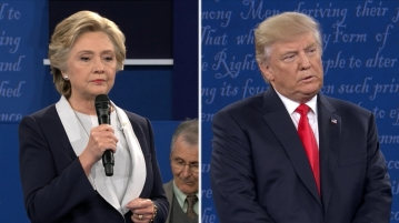 Trump and Clinton, Second presidential debate. ABC News is the author of the image.