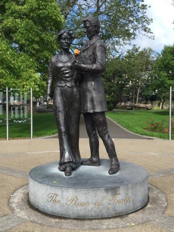 In Ireland, statue in Tralee
